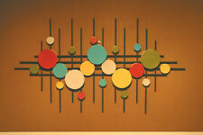 Abstract Metal Sculpture Metal Wall Art Mid Century Modern Retro Color