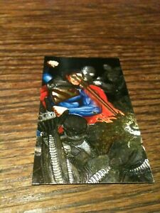 1994 Superman Skybox S4 DC Comics Spectra-Etch VG Heat Vision Foil Platinum NICE