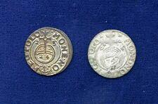 LIVONIA / LATVIA / POLAND 1623 & 1626 1/24th THALER SILVER COINS, VF/XF