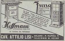V0962 Cucine a gas Hoffmann e stufe Jung - Pubblicità d'epoca - 1933 vintage ad