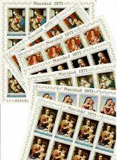 S31746) Guinea Eq. 1971 MNH Christmas Natale 7v (Full Sheet)