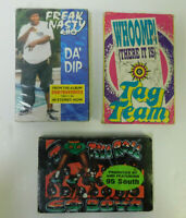 Lot of 3 Cassette Singles - 1990s Booty - Da Dip Tootsee Roll Whoomp! There It