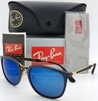 NEW Rayban sunglasses RB4299 601S55 Black Blue Mirror Cat Classic GENUINE 4299