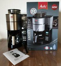 Melitta AROMA FRESH Filterkaffeemaschine integriertes Mahlwerk Bohnen und Pulver