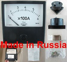 AC 0-1A Ammeter Russian Analog Panel Meter E8030 Current Meter Gauge 80*80mm