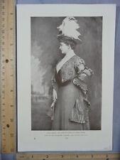 Rare Antique Orig VTG 1907 Emma Eames American Prima Dona Photogravure Art Print