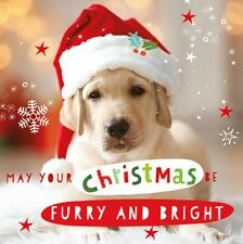 3D Holographic Furry & Bright Puppy Christmas Greeting Card Lenticular Xmas Card