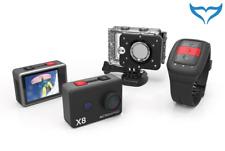 ActionPro X8 ultrakompakte 4k Actionkamera mit integriertem WiFi und LCD NEU