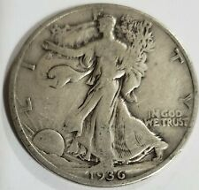 1936 Walking Liberty Half Dollar Very Good Condition 90% Silver US Coin C-1