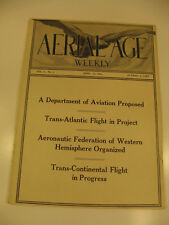 Aerial Age Weekly Frederickson Curtiss Wright,Thomas Apr 1916 Vintage Airplane
