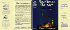 Fitzgerald THE GREAT GATSBY facsimile  jacket for 1st ed/early (NO BOOK)