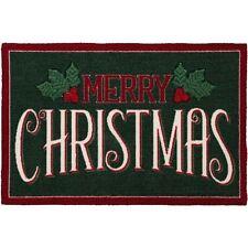 """ST. NICHOLAS SQUARE MERRY CHRISTMAS RUG FLOOR MAT  XMAS 20""""X 30"""""""