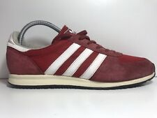 ADIDAS ADISTAR RACE RED SUEDE TRAINERS SIZE 8 UK