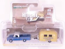 Greenlight Hitch & Tow 3 1966 Dodge D100 Pick Up with Airstream Camper