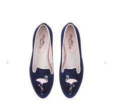 French Sole by Alice Naylor-Leyland Velvet Flamingo Slippers