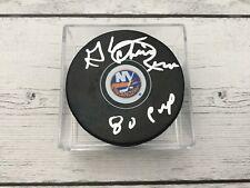Glenn Chico Resch Signed Autographed NY New York Islanders Hockey Puck b
