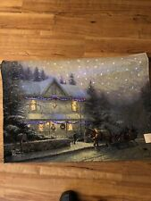 Victorian christmas 4 , Thomas Kincade Lighted Tapestry