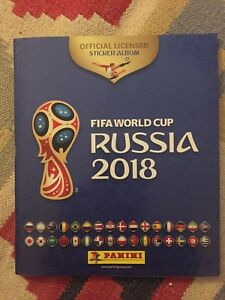 Russia 2018 World Cup Panini Complete loose set of stickers 682 + empty album A
