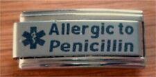 Italian Charms L76 Medical Alert Allergy Allergic to Penicillin