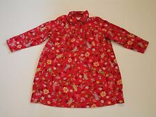 Baby Mini par Catimini 4A 102 Girl Corduroy Floral Dress Red Fall Winter Warm
