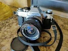 Canon AE-1 35mm SLR Film Camera with Canon FD 24mm Lens