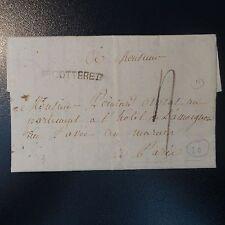 FRANCE MARQUE POSTALE LETTRE COVER V.COTTERETS 1789 L3