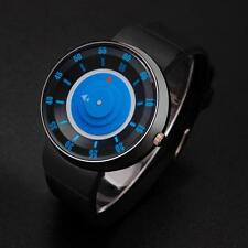 Women Men Stainless Steel Jelly Analog Concept Silicone Sport Wrist Watch M1