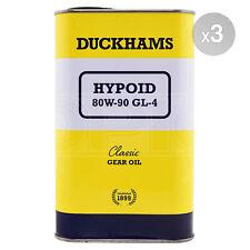 Duckhams Hypoid 80w-90 80w90 Classic Gear Oil - 3 x 1 Litre 3L