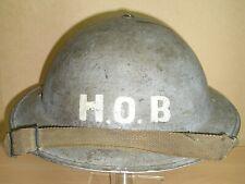 WW-II Battle of Britain-era (possible RAF) MK-II Steel Helmet & Chinstrap - 1940