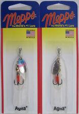 2 - Mepps  Aglia Spinner - 1/12 oz.- Silver & Rainbow Trout