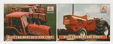 1995 AGCO tractor 2 collect/trading cards, #A9-#A10, Allis-Chalmers 8070, One-90