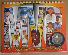 1991 Baseball Cards Calendar by Krause Publications - Mickey Mantle, etc.