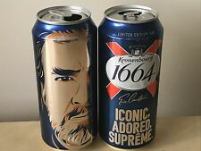 Collectable Limited Edition Eric Cantona Kronenbourg Empty Beer Can Tins x 2
