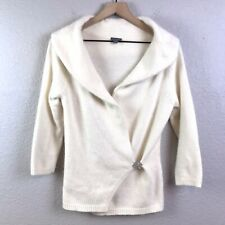 ANN TAYLOR Womens S Angora Blend Soft Wrap Sweater Cardigan with Brooch Clip