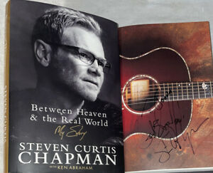 SIGNED STEVEN CURTIS CHAPMAN Between Heaven & The Real My Story World Book HC DJ
