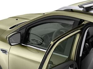 Genuine Ford Kuga Front Window Deflectors in Light Grey - From 11/2012 (1815028)