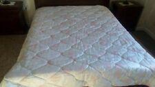 Piumone matrimoniale trapunta bianca fiori rosa duvet couette coperta raso gift
