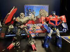 Transformers Animated The Battle Begins Optimus Prime Megatron lot