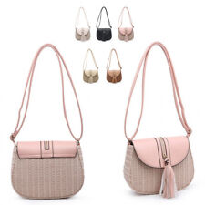 Ladies Straw Basket Shoulder Bag Messenger Tassel Cross Body Handbag ML2068-1