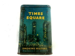 VINTAGE ADVERTISING  EMPTY TIMES SQUARE VERTICAL  POCKET  TOBACCO TIN  P-611-Y