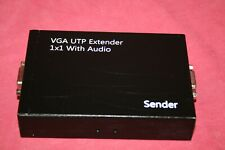 Lot of 5 Video VGA 1x1 UTP Extender with Audio-SENDER-SEE PHOTO