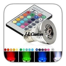 3W E27 RGB LED 16 Multicolor Changing Lamp Light Bulb + IR Remote Control