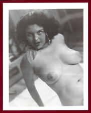 1950 Vintage Nude Photo~Mega Big Firm Perky Breasts Dark Nips Perfect Body Pinup