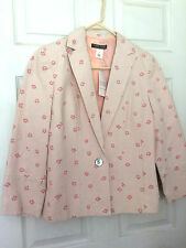 Sigrid Olsen NWT Blush Cotton Lined One Button Jacket Size 10 NWT $268