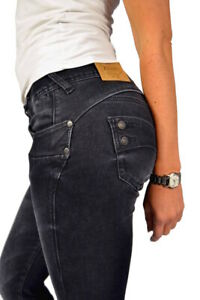 Herrlicher PIPER SLIM Jeans 5650 Re-used ECO *Crow Black* dunkelgrau NEU