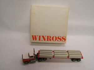 Winross Leffler Transportation Co. Richland PA Ford Tractor Flat Bed w/ Load