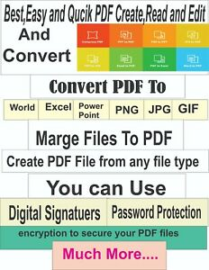 Best, Easy and Quick Pdf Creator, Reader and Converter (multi Language)