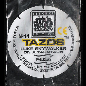 POGS 1996 STAR WARS TRILOGY TAZOS Sealed 14-26  - RARE - VISIT POG SHOP