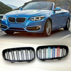 ///M-COLOR SHINY BLACK M2 STYLE FRONT GRILLE FOR BMW F22/F23/F87 ABS
