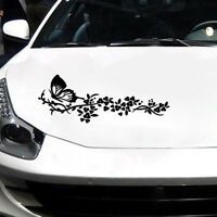 1x Flying Butterfly Flower Car Sticker Truck Window Door Reflective Decal Useful